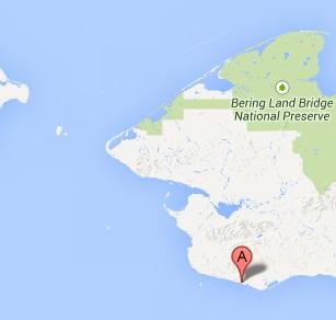 Location of Nome Alaska