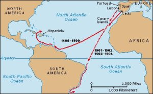 Amerigo Vespucci and his Trans-Atlantic Explorations
